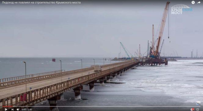 Ледоход не повлиял на строительство моста