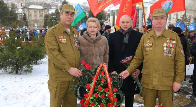 В Керчи отметили годовщину вывода войск из Афганистана