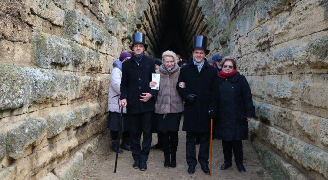 Лариса Щербула приняла участие в театрализованной экскурсии, посвященной 180-летию со дня открытия Царского кургана