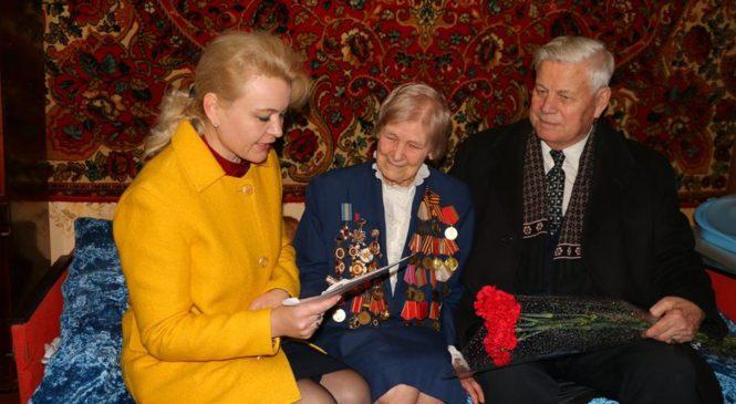 Глава горсовета поздравила ветерана Галину Коваль с юбилеем