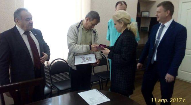 Заместителю главврача первой городской больницы вручили Почетную Грамоту Госсовета Республики Крым