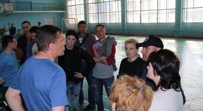 Председатель горсовета познакомилась с керченской баскетбольной командой