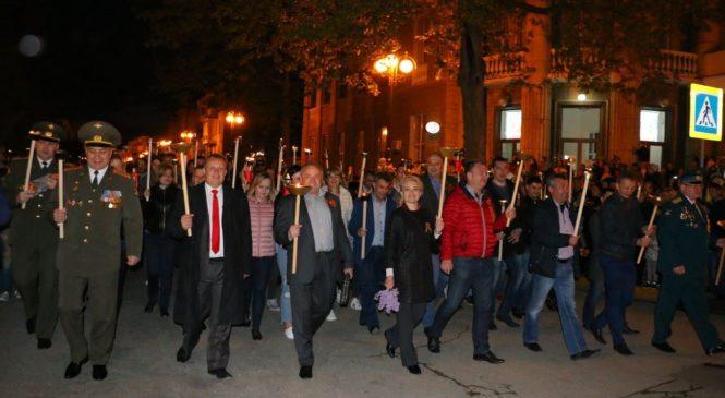 В Керчи прошло традиционное факельное шествие