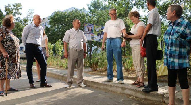 24 июля председатель городского совета провел встречу с активом жильцов дома №1 по улице Ворошилова