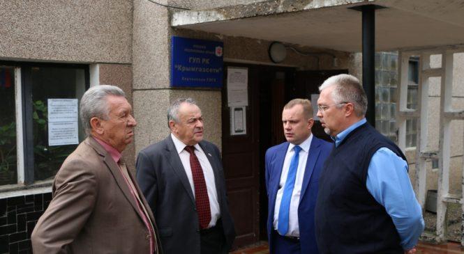 Ефим Фикс и Николай Гусаков проверили работу филиала «Крымгазсети»