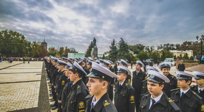В Керчи прошло посвящение в курсанты КГМТУ-2017