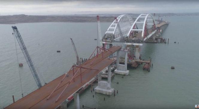 4 ноября закончены все автомобильные опоры Керченского моста (ВИДЕО)