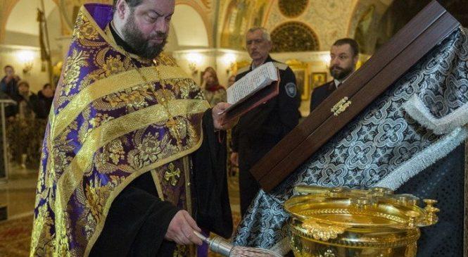 В Москве, в Храме Христа Спасителя, состоялся Чин Освящения Иконы для Аджимушкая