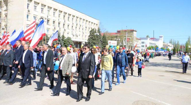 Порядок построения Первомайской демонстрации