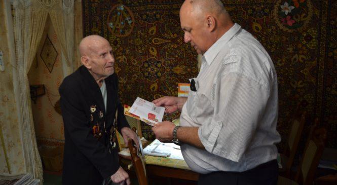 Председатель правления «Объединение предпринимателей Керчи» поздравил ветеранов ВОВ с Днем Победы