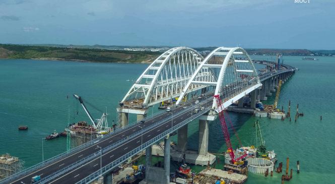 Сдан досрочно: 16 мая запускается автодорожное движение по Крымскому мосту (ВИДЕО)