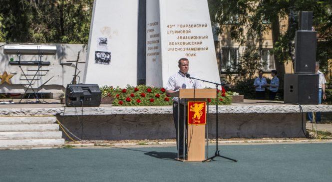 В Сквере летчиков 22 июня проходит традиционный митинг памяти
