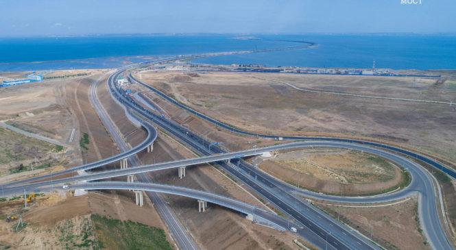 Автотрасса по Крымскому мосту подготовлена к зиме