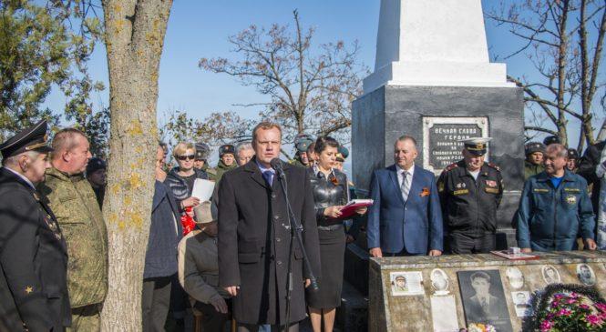 В Осовины открыли мемориальный комплекс с именами 425 погибших при освобождении Крыма бойцов