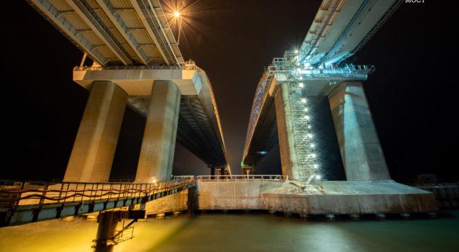 Готовы все железнодорожные опоры Крымского моста (ФОТО, ВИДЕО)