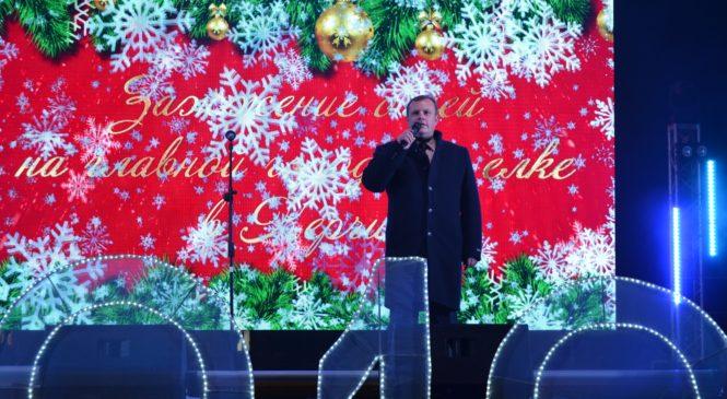 Зажглись огни на главной Новогодней ёлке города