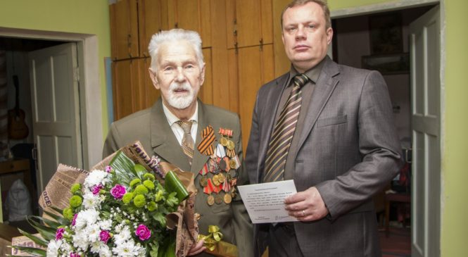 95-летний юбилей отметил ветеран ВОВ Тюгаев Николай Емельянович