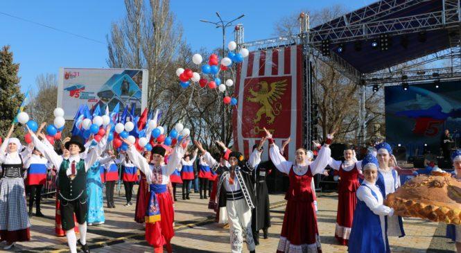 Керчане отмечают пятую годовщину Воссоединения Крыма и России
