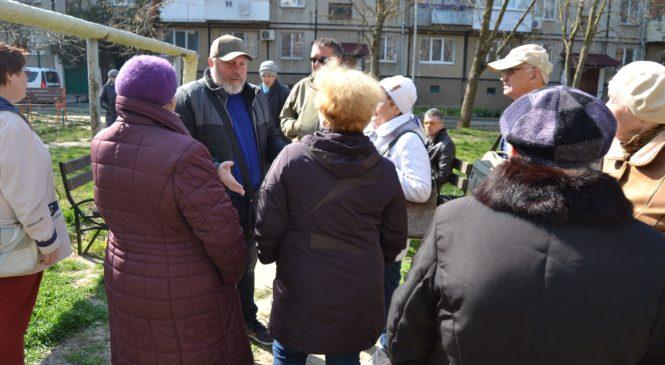 Дмитрий АНДРОПУЛО встретился с жителями улицы Островского, 110