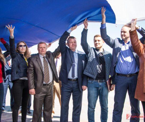 В поселке Аджимушкай прошла патриотическая акция «Россия – это Мы!»