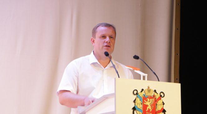 Николай ГУСАКОВ приветствовал участников августовской педагогической конференции