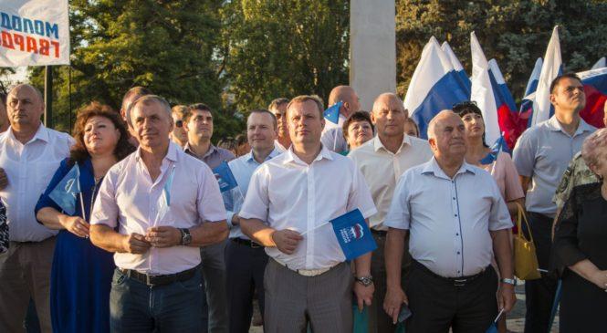 Владимир КОНСТАНТИНОВ встретился с керчанами на главной площади города