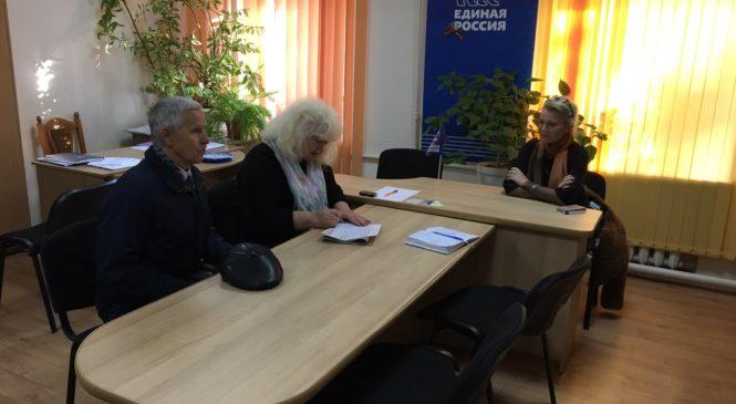 Лариса ЩЕРБУЛА провела прием граждан в общественной приемной Владимира КОНСТАНТИНОВА