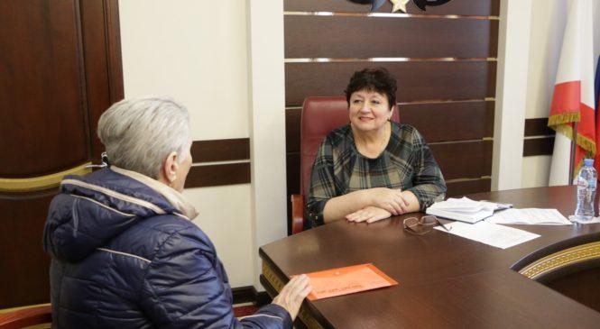 Глава муниципального образования провела прием граждан по личным вопросам