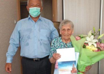 Ветеран ВОВ Мария КОСОНОЖКИНА отпраздновала 90-летний юбилей