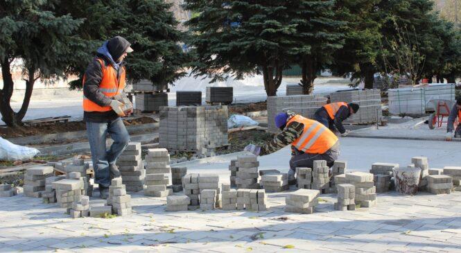 В Керчи продолжается благоустройство общественных зон