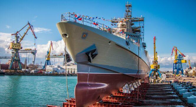 На «Заливе» торжественно спустили на воду патрульный корабль «Сергей КОТОВ»