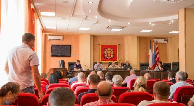 В Керчи 17 августа провели заседание оперативного штаба по ликвидации последствий ЧС